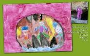 Дети в пещере с озером